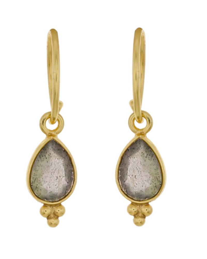 Muja Juma Earring Labradorite gold plated