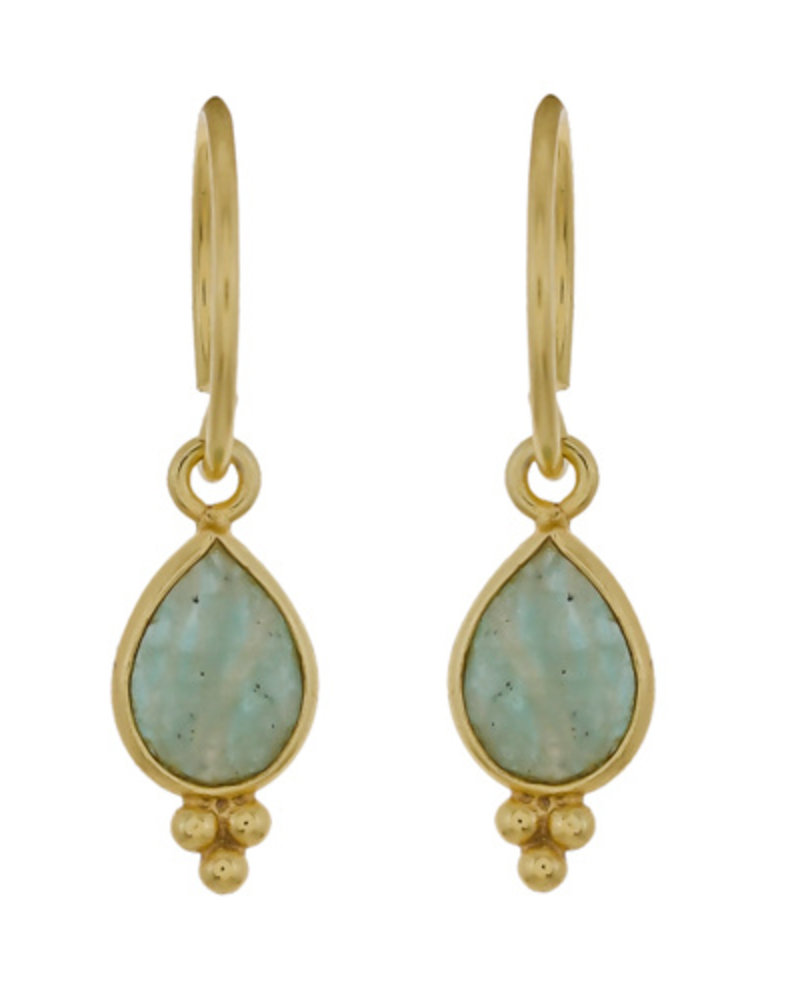 Muja Juma Earring Amazonite  gold plated