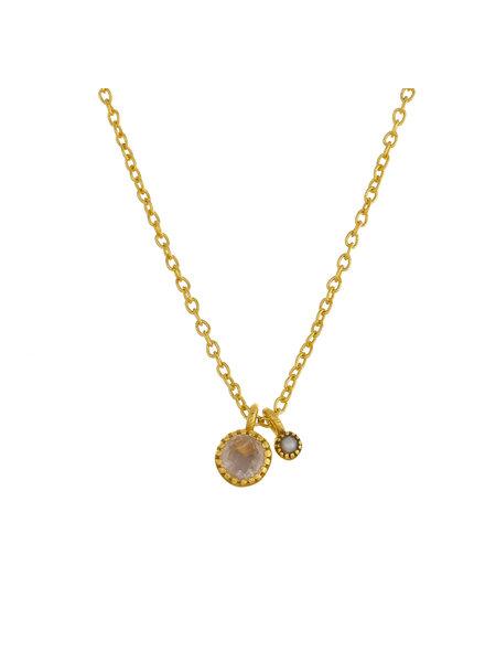 Muja Juma Necklace round Moonstone/ Pearl  pendant