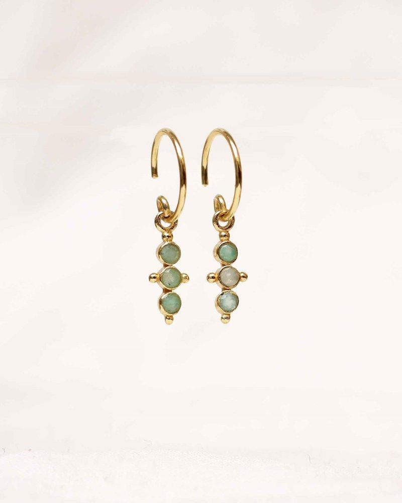 Muja Juma Amazonite gold plated earring