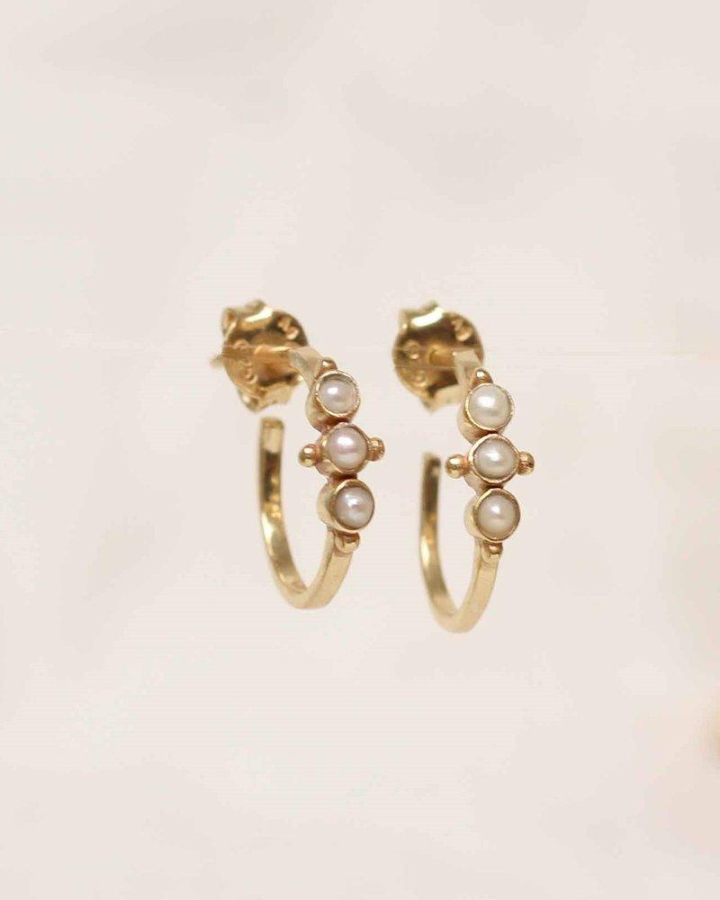 Muja Juma Earring pearl gold plated