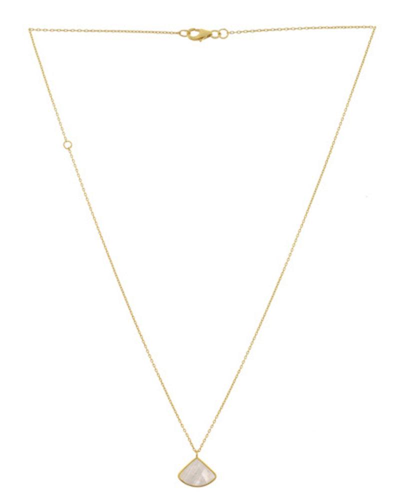 Muja Juma Halskette Fancy Moonstone vergoldet 925 Sterling Silber - Kopie