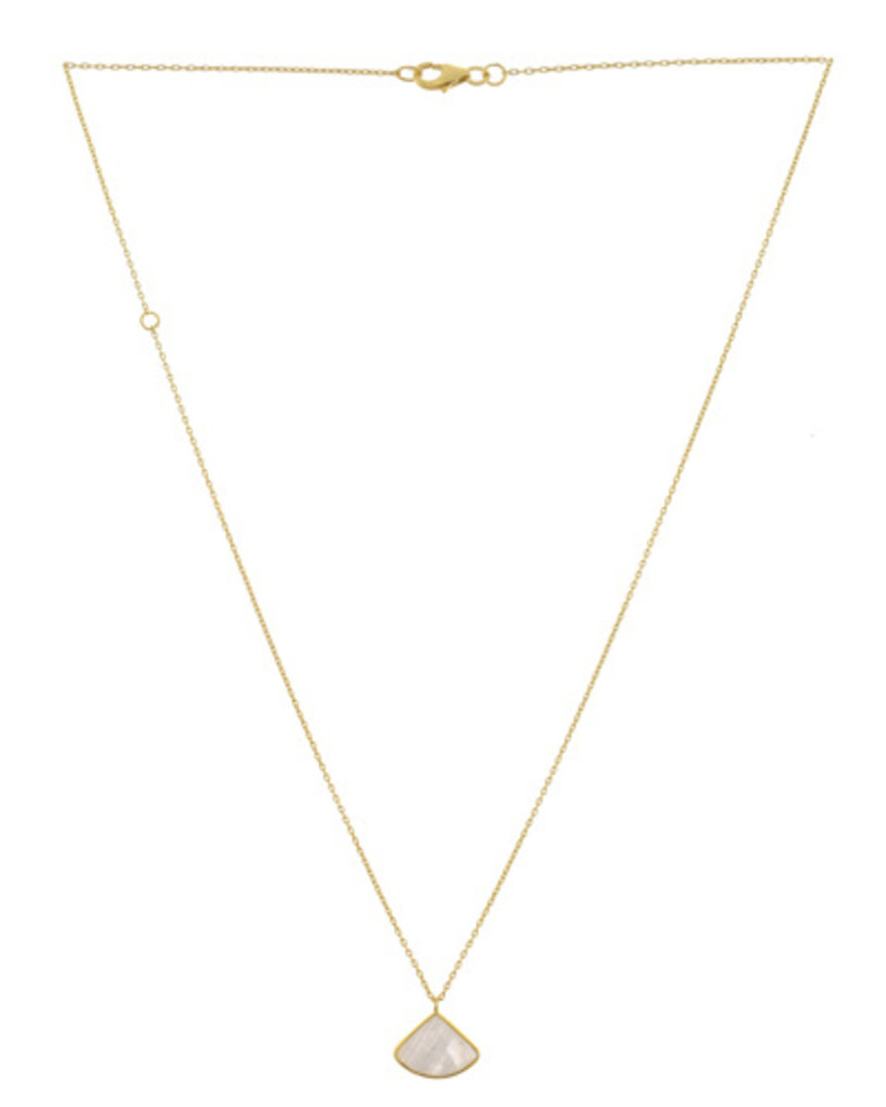 Muja Juma Necklace Fancy Moonstone gold plated 925 sterling silver - Copy