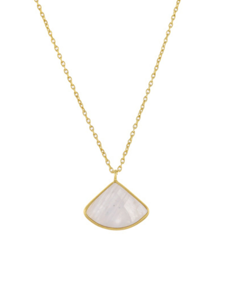 Muja Juma Necklace Fancy Moonstone goldplated 925 sterling silver - Copy