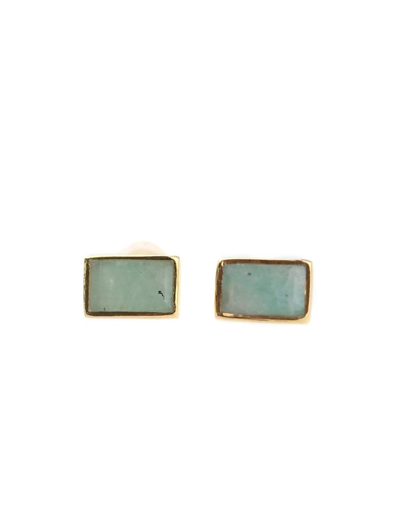 Muja Juma Earring Sweet Summer Amazonite gold plated