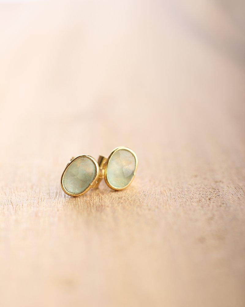 Muja Juma Earring Nefrite gold plated