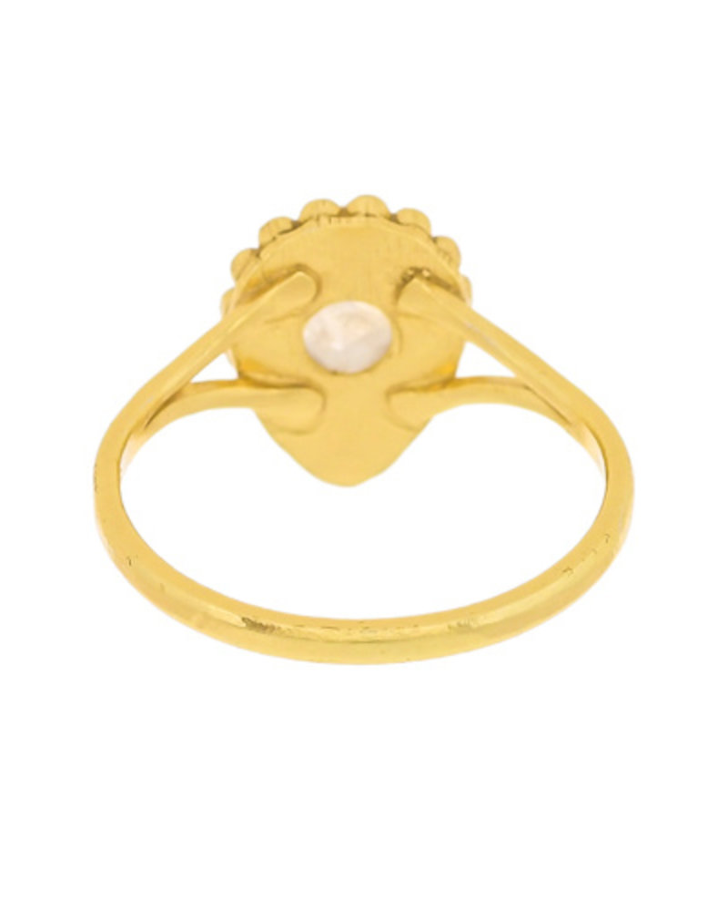 Muja Juma Ring  gold plated 925 sterling silver with Moonstone