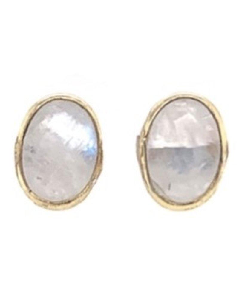 Muja Juma Earring Moonstone gold plated