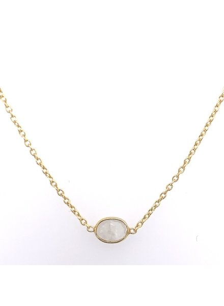 Muja Juma Necklace moonstone oval