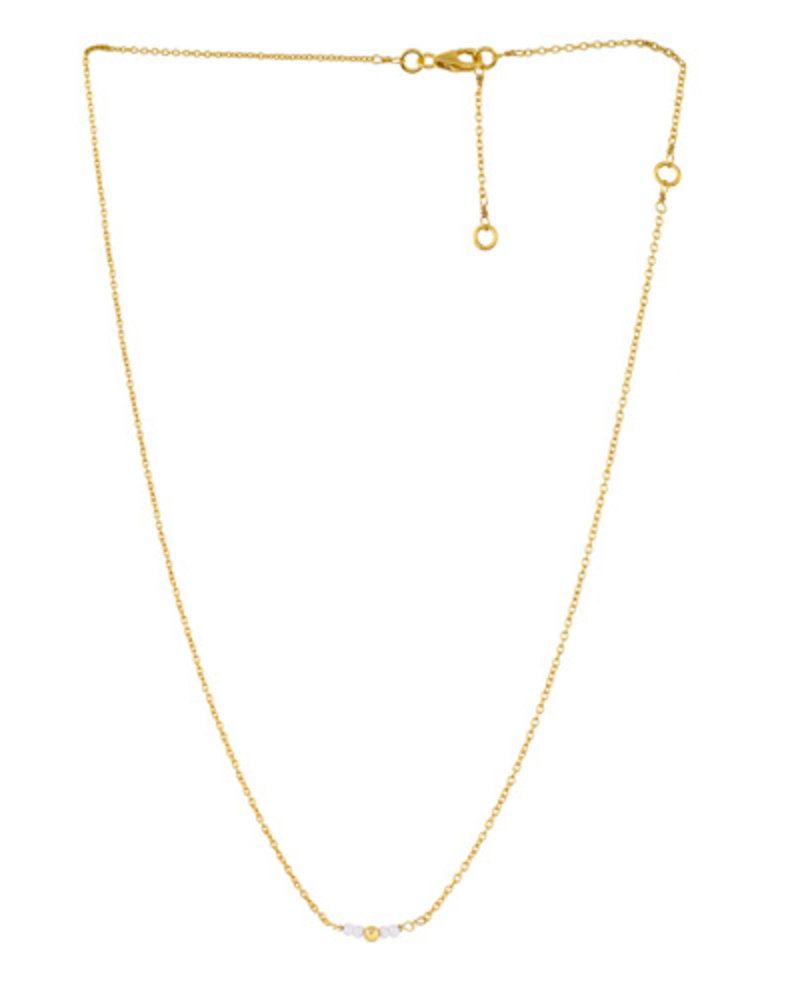 Muja Juma Halskette süße süße Perlen vergoldet