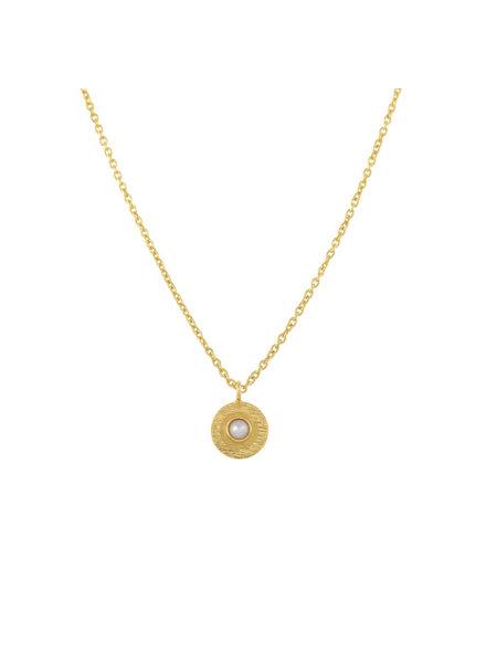 Muja Juma Halskette Perlenmünze