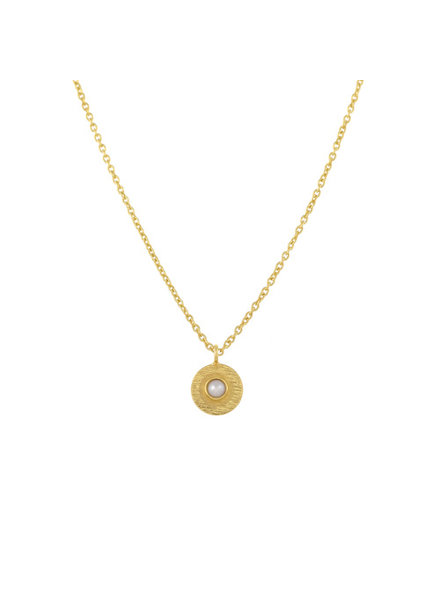Muja Juma Necklace pearl coin