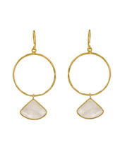 Muja Juma Earring Fancy Moonstone