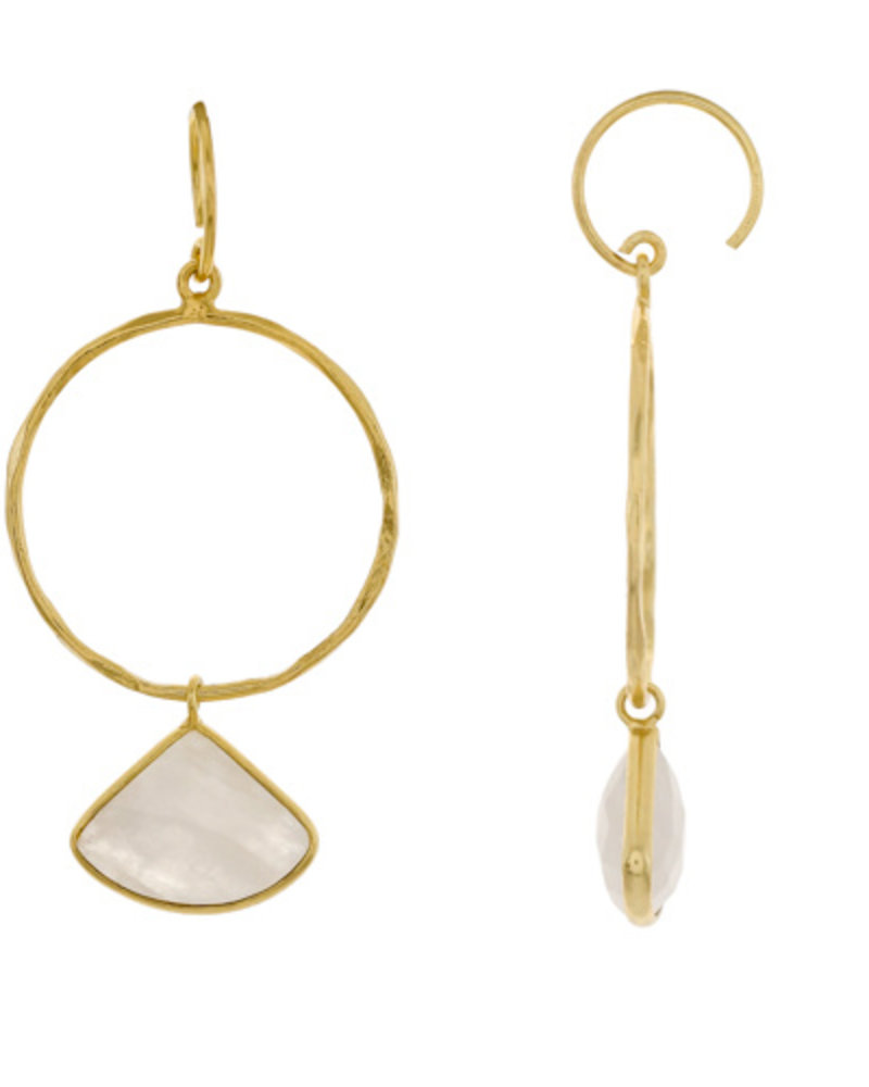 Muja Juma Earring Fancy Moonstone gold plated