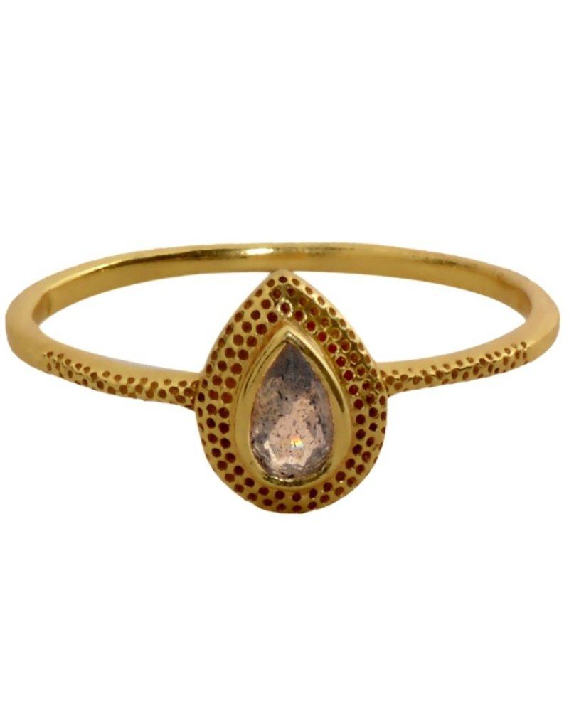 Muja Juma Ring Labradorite elegance gold plated