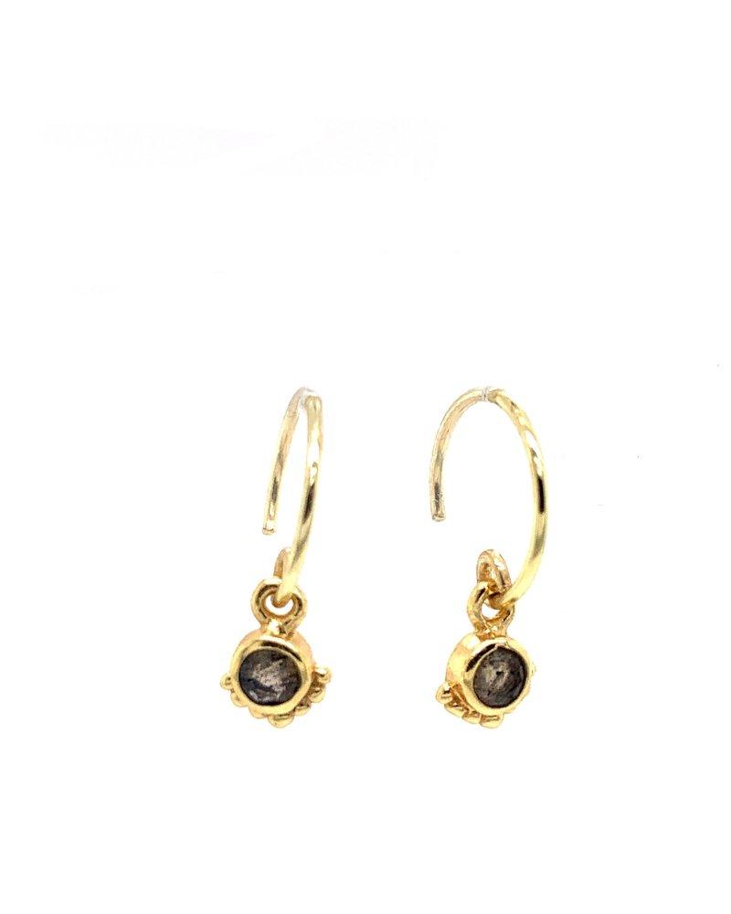 Muja Juma Earring Labradorite 925 sterling silver  gold-plated