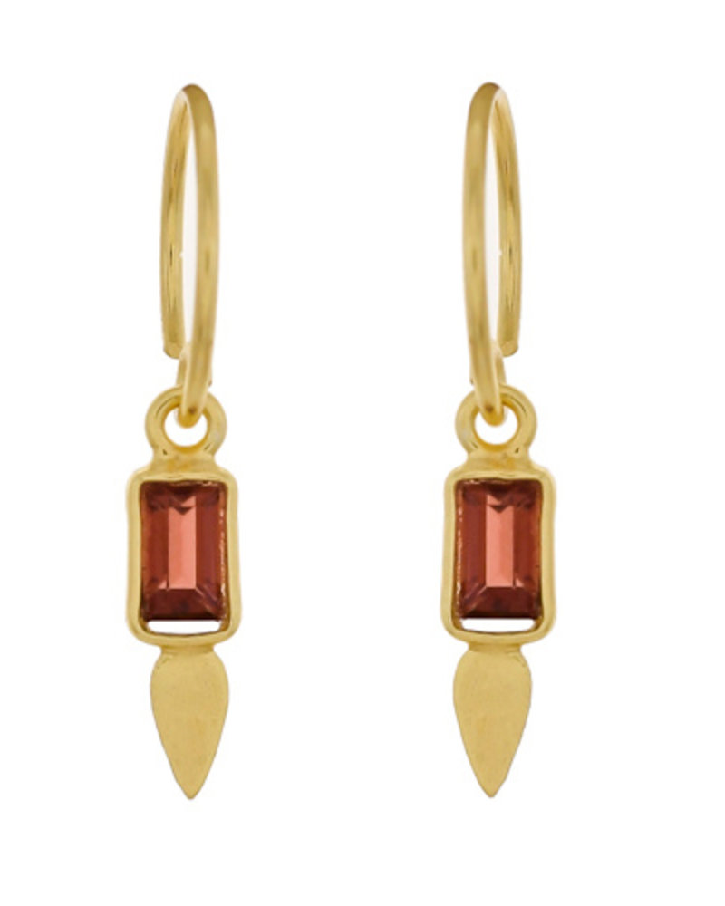 Muja Juma Earring Garnet 925 sterling silver  gold-plated