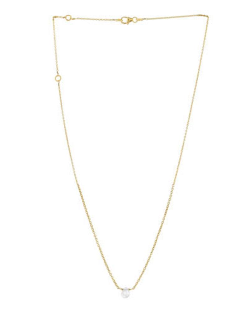 Muja Juma Necklace moonstone drop gold plated