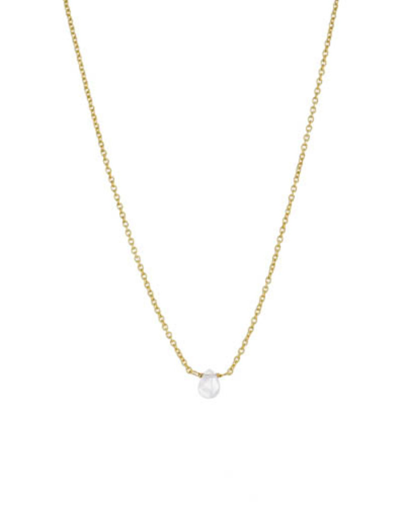 Muja Juma Necklace moonstone drop gold plated