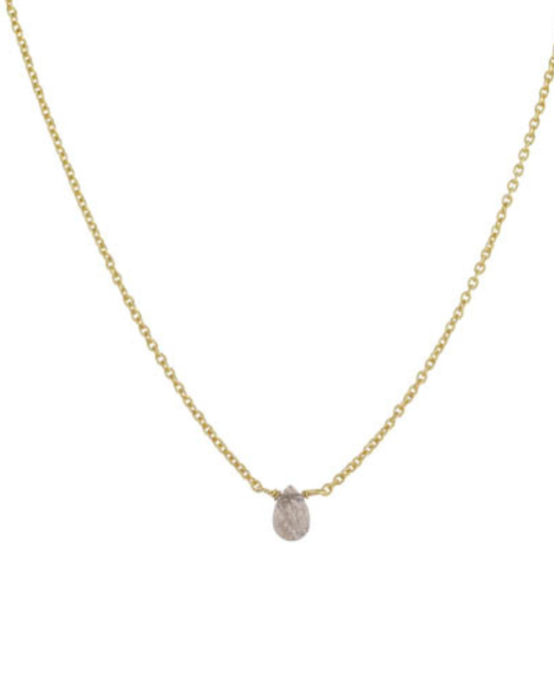 Muja Juma Necklace Labradorite drop gold plated