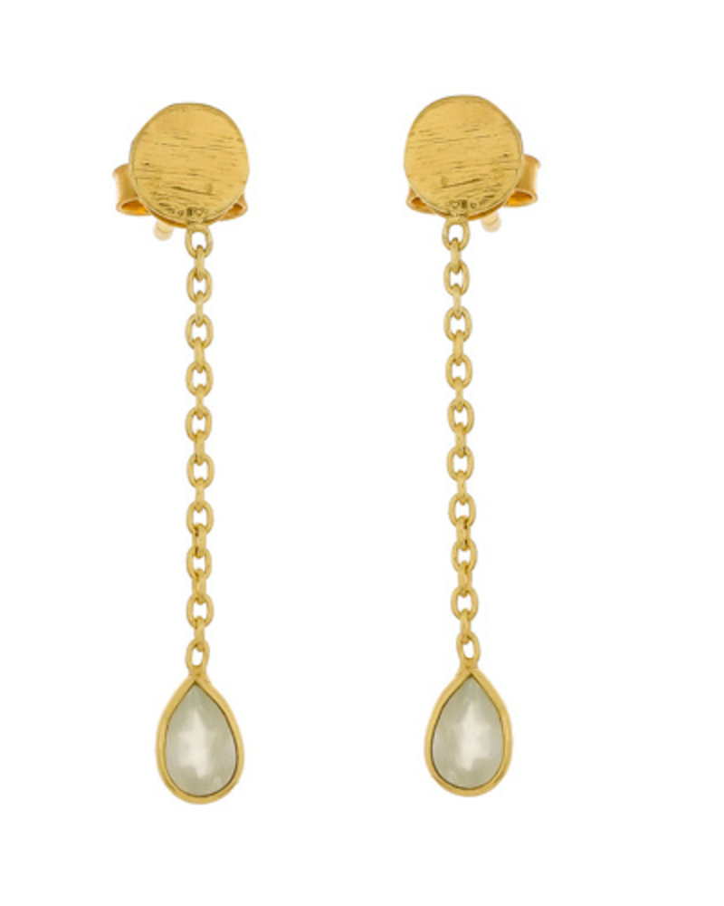 Muja Juma Earring Prenite swinging drop stud 925 sterling silver goldplated