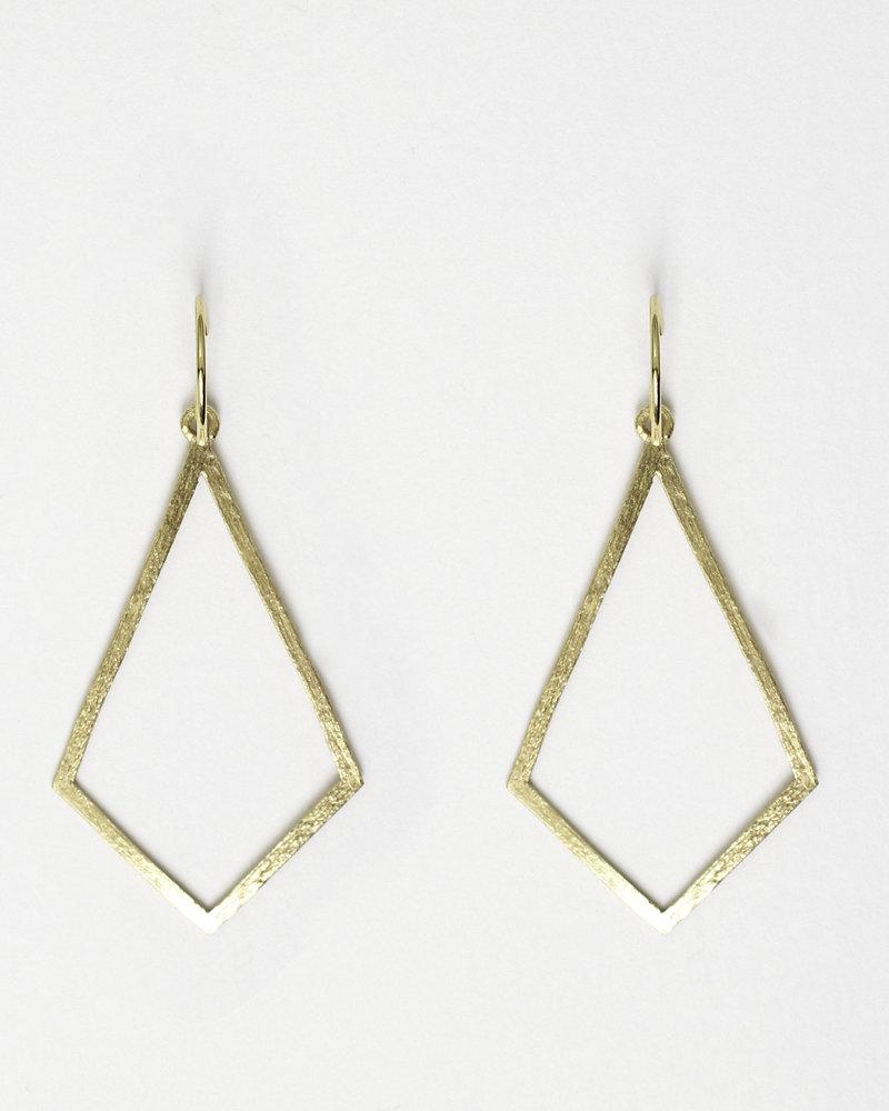 Muja Juma Earring Diamond shape gold plated 925 sterling silver