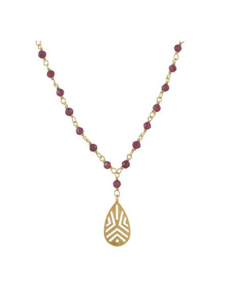 Muja Juma Collier Garnet Beads