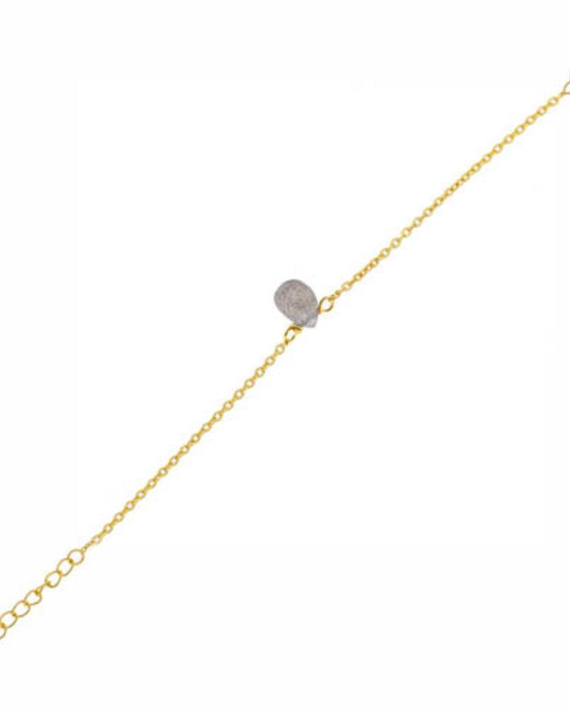 Muja Juma Bracelet Labradorite drop gold plated
