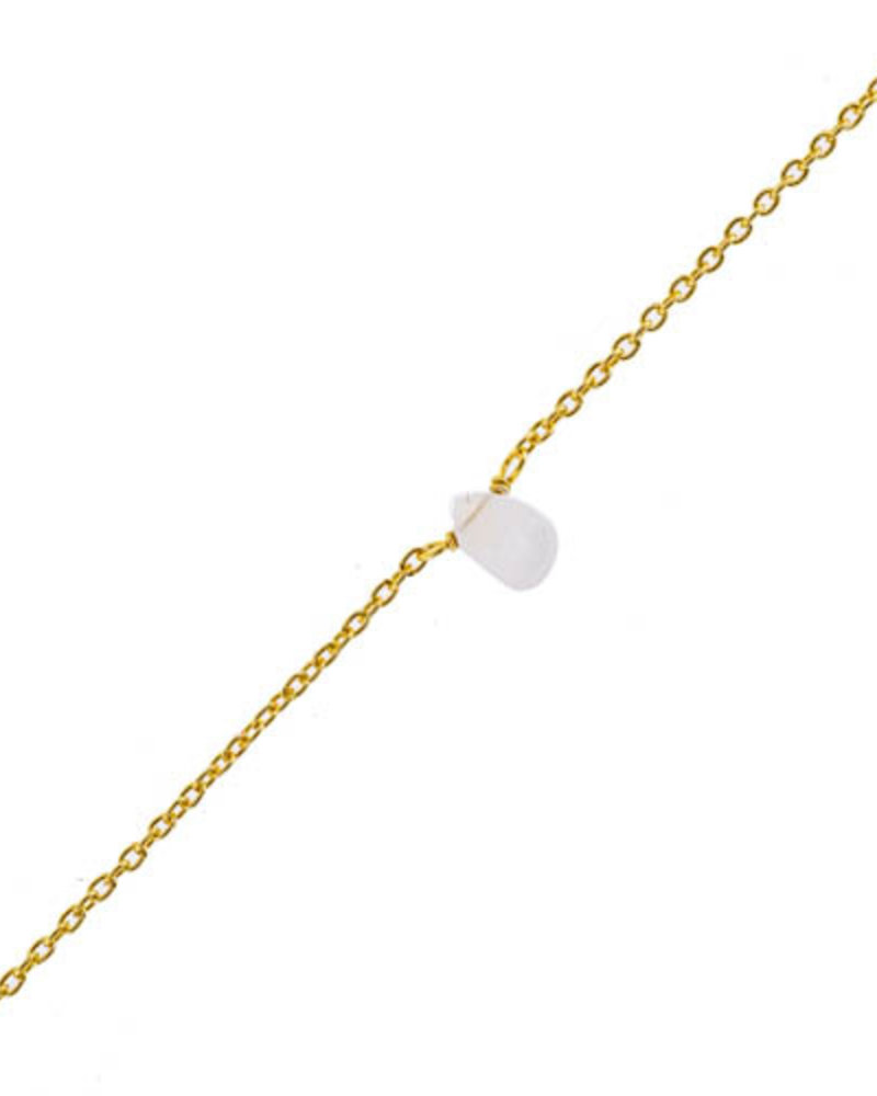 Muja Juma Bracelet Moonstone drop gold plated