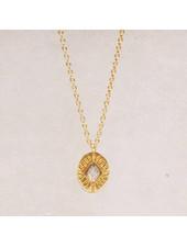 Muja Juma Diamant gestreifte Labradorit-Halskette
