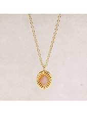 Muja Juma Diamant gestreifte Labradorit-Halskette - Copy