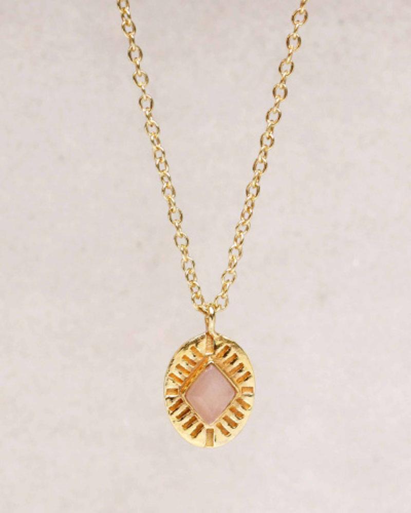 Muja Juma Necklace Diamond striped labradorite 925 sterling silver goldplated - Copy - Copy