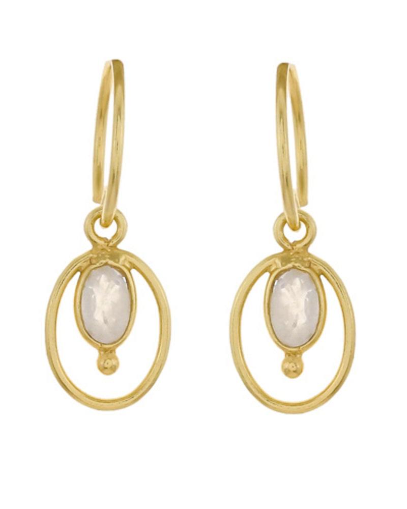Muja Juma Earring Moonstone drop gold plated
