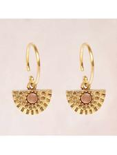 Earring Hanging Nefrite half circle - Copy