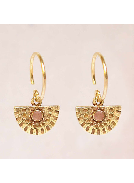 Earring Hanging Nefrite half circle - Copy