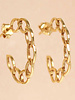 Muja Juma Earring hoop open circles gold plated
