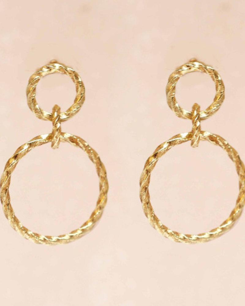 Muja Juma Earring double hoops gold plated