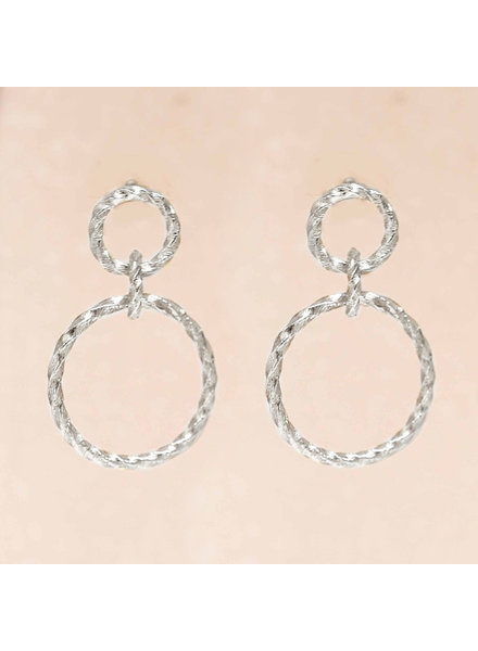 Muja Juma Earring double hoops - Copy