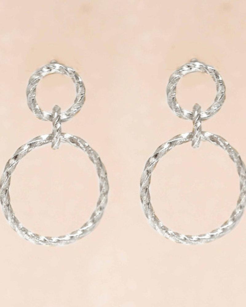 Muja Juma Earring double hoops gold plated - Copy