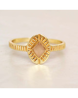 Muja Juma Ring Diamond Striped Peach Moonstone