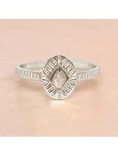 Muja Juma Ring Diamond Striped Silver Labradorite