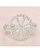 Ring Wheel dots Silver