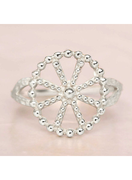 Ring Wheel dots Silver