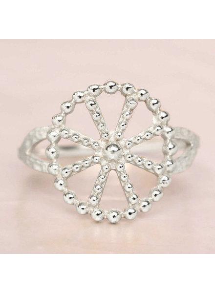 Ring Wheel Punkte Silber