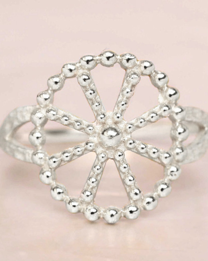 Ring Wheel dots 925 Sterling Silver