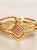 Muja Juma Ring Diamond three bands Amazonite gold plated - Copy