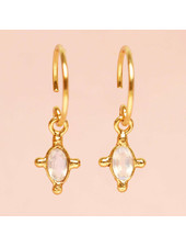 Muja Juma Earring Moonstone oval and four si