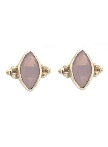 Muja Juma Earring Pink Opal Butterfly stud