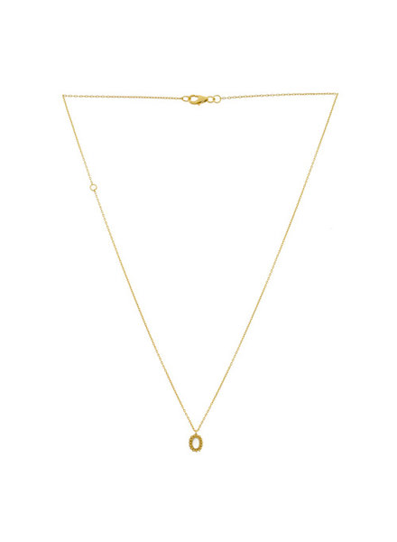 Necklace oval AQUA