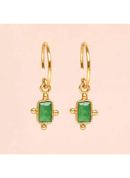 Muja Juma Earring Green Onyx